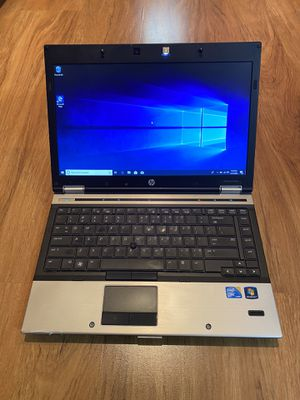 HP EliteBook 8440p core i5 4GB Ram 250GB Hard Drive Windows 10 Pro Laptop with charger in Excellent Working condition!!!!! for Sale in Aurora, IL