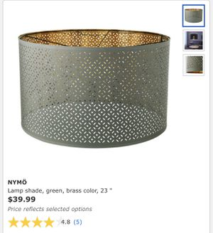 "NYMÖ Lamp shade, green, brass color, 23 "" for Sale in Blacklick, OH"