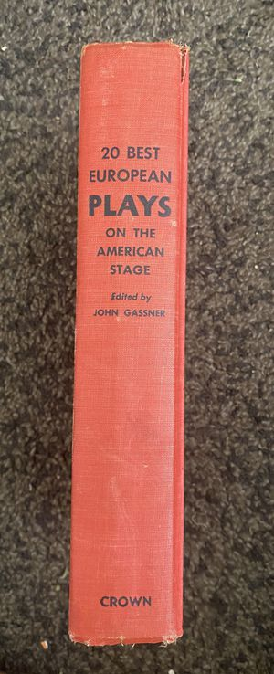 20 Best European Plays on the American Stage Pages Are Crisp And Clean. No Marks for Sale in Long Beach, CA