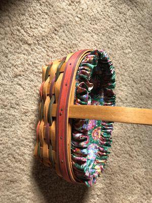 longaberger Easter basket with liner for Sale in Miramar, FL