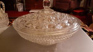 Royal Windsor depression glass candy dish w/ lid. for Sale in Kingsley, PA