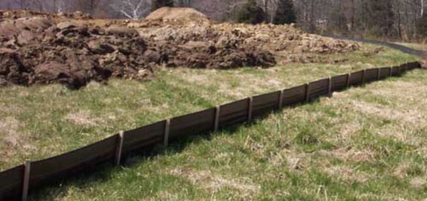 Grading and silt fencing