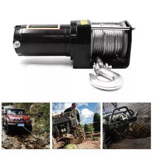 Winch ATV 12V/24V Electric Winch Wireless Remote Control 3500LB for 4WD ATV UTV Car (New) for Sale in Los Angeles, CA