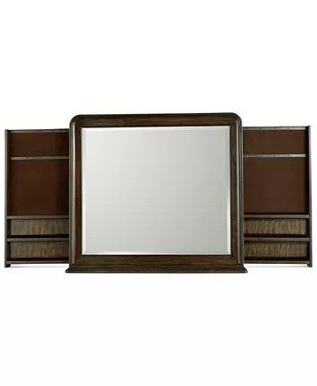 New DresserHidden Jewelry Storage Side Mirror Out From Left and Right Side Coin Tray Base Open 62L X 10D X 38H Close 36L X 36H