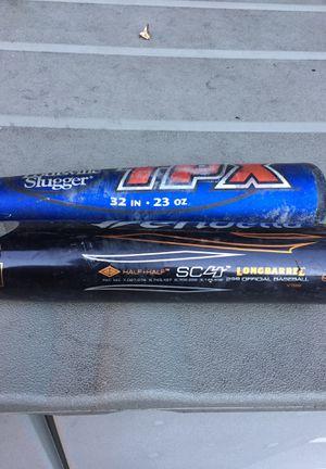 Hardball baseball bats 32 inch 23 ounce TPX in the 31 ounce 34 inch DeMarini for Sale in Fairfield, CT