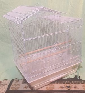 White parakeet Bird cage Never Used Fully Assembled for Sale in Madison, NJ