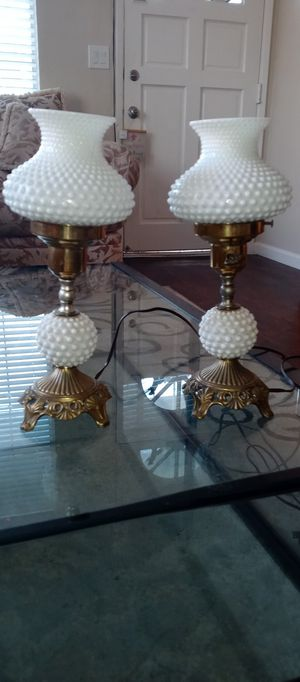 Vintage hurricane milk glass lamps for Sale in Citrus Heights, CA