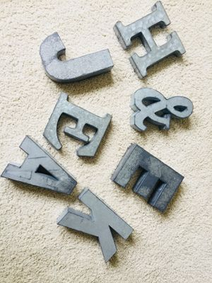 Metal letters for Sale in Sterling, VA