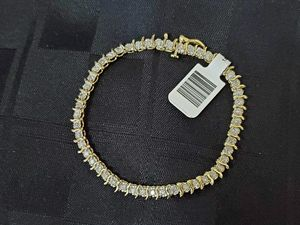 Ladies 10K Gold Diamond Tennis Bracelet for Sale in San Diego, CA