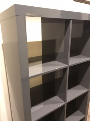 Glossy gray bookshelves for Sale in Portland, OR
