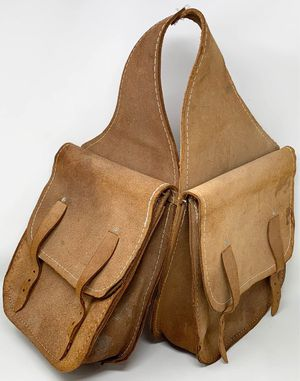 Brown Chap Leather Horse Saddle Bag for Sale in Palos Park, IL