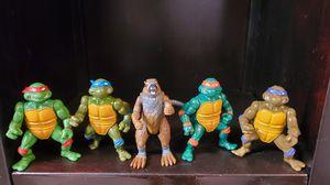5 Ninja Turtles Action Figures vintage 1988. for Sale in Lakewood, CA