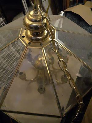Good shape Retro light, beveled glass panel for Sale in Folsom, CA