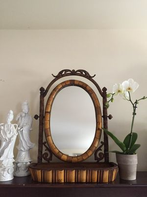 Antique Bamboo Oval Mirror for Sale in Washington, DC