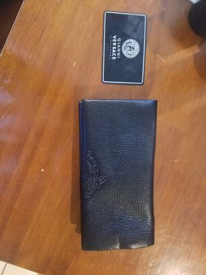 New Authentic VERSACE Leather long wallet $200 for Sale in Phoenix, AZ