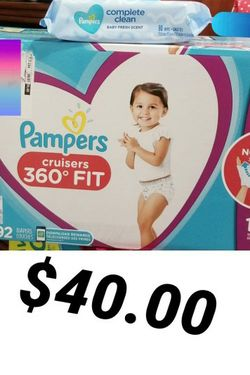 Pampers Cruisers 360 Fit Size 6 And Wipes For $40 for Sale in Los Angeles,  CA