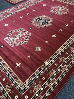 New Bokhara rug size 8x11 nice red carpet Persian design rugs for Sale in Fairfax Station, VA