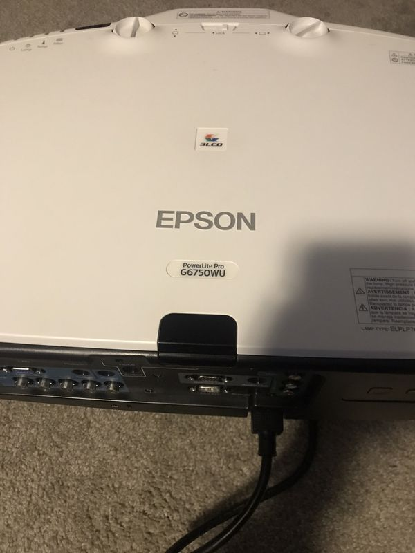 Screen projector EPSON G6750WU