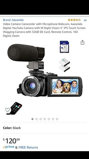 digital video camcorder for blogging with microphone too! for Sale in Atlanta, GA