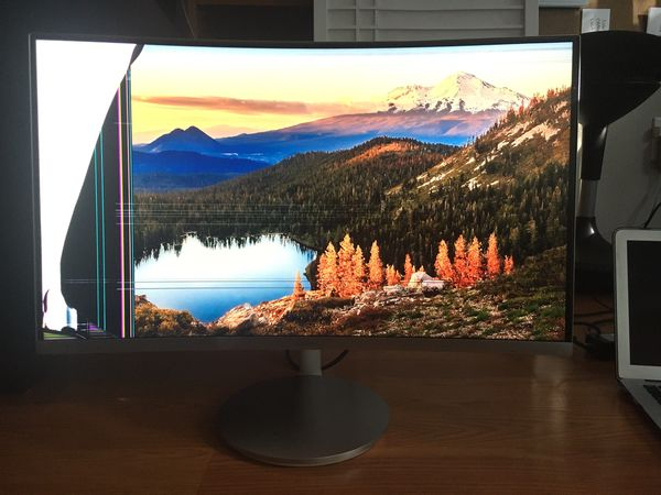"""27"""" Curved Monitor for Parts"""