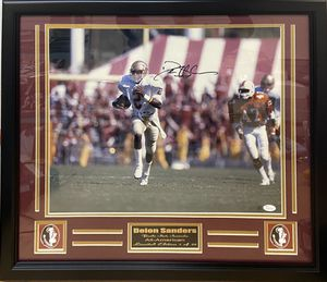 FSU Seminoles Deion Sanders JSA Authenticated Signed Picture Frame. for Sale in Tallahassee, FL