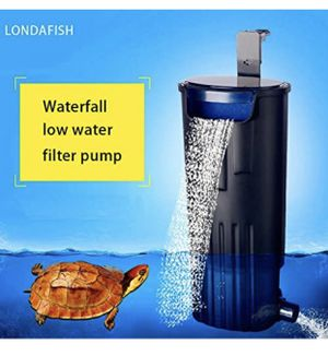 LONDAFISH Submersible Water Filter for Turtle Tank, Aquarium, 600L / H, Low Water Level Filter for Sale in Las Vegas, NV