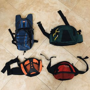 1 hydration pack backpack + 3 camping bag for Sale in Corona, CA