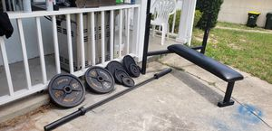 Competition bench with Olympic weight for Sale in Clermont, FL
