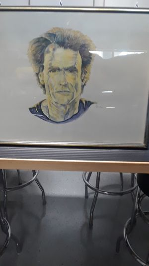 CLINT EASTWOOD ORIGINAL WATER COLOR PORTRAIT SIGNED BY ARTIST A. BUTRA for Sale in Clovis, CA