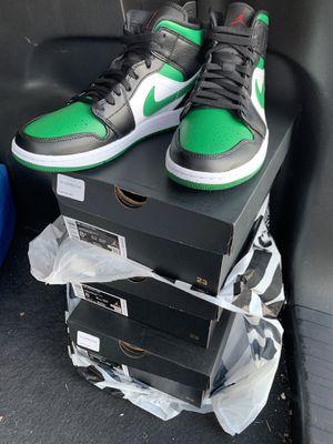 DS Jordan 1 Mid Green Toe sz 8/8.5 for Sale in Montebello, CA