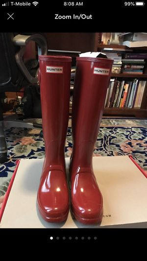 Hunter women original tall rain boots size 10 for Sale in Sterling Heights, MI