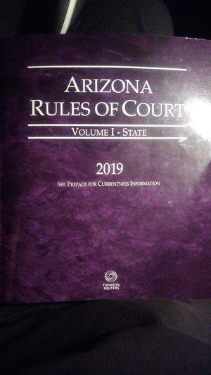 Arizona rules of Court volume 1 2019 for Sale in Tucson, AZ