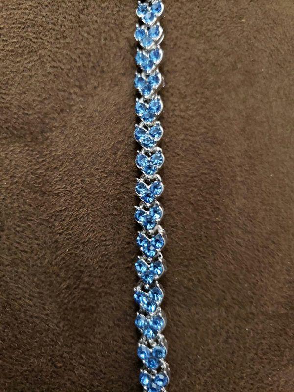 Ladies fashion jewelry sky blue crystal diamond bracelets