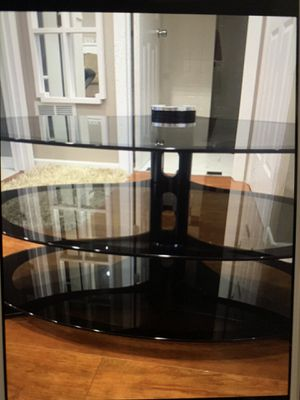 Glass tv stand and video game organizer. Good condition for Sale in Alsip, IL
