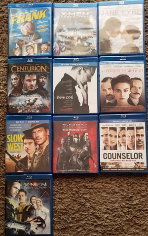 MICHAEL FASSBENDER Blu-Ray collection for Sale in Inverness, FL