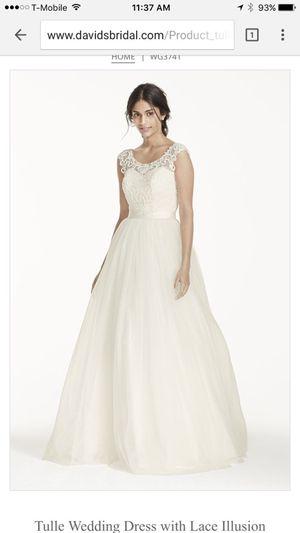 Davids Bridal Tulle Wedding Dress for Sale in North Las Vegas, NV