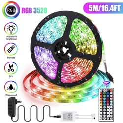 Led Strip Lighting 5M 16.4 Ft 5050 RGB Flexible Color Changing with 44 Keys IR Remote Controller and Power Supply for Sale in Ontario,  CA