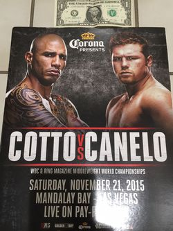 Canelo Vs Cotto Corona Beer Boxing Poster for Sale in Perris,  CA