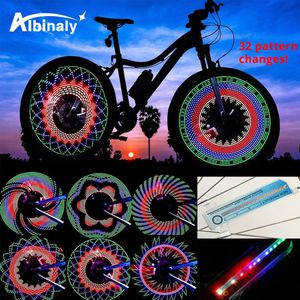 30 pattern Bike light Bicycle wheel light double display flash 32 RGB LED light Bicycle spoke lamp Night riding Cycling lighting for Sale in Los Angeles, CA