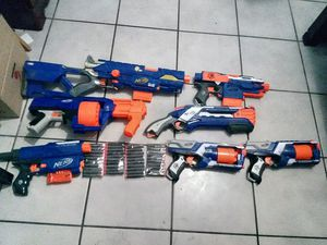 Nerf N-STRIKE Elite Lot 7 Guns for Sale in Miami, FL