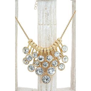 Fashion pendant gold circle crsytal necklace for Sale in Woodside, CA