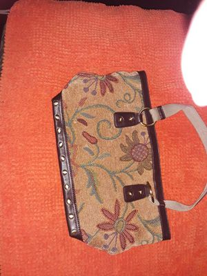 Brown n floral purse for Sale in Tacoma, WA