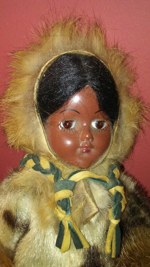 Antique Eskimo Doll with Fur Clothing for Sale in Rochester Hills, MI