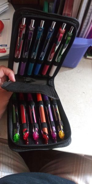 Storage case color black with zipper fits 12 pens for safekeeping brand new for Sale in Cranston, RI