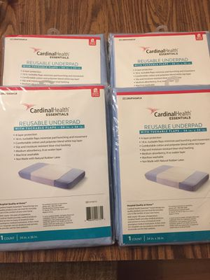 Lot of 4 Cardinal Health reusable bed underpads with tuckable flaps for Sale in Olympia, WA