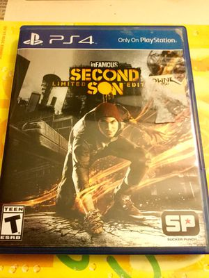 Sony Playstation 4 Video Game * Second Son * Limited Edition / More games come visit ! for Sale in Alexandria, VA