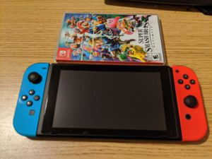 Nintendo switch w/ Smash for Sale in Ames, IA