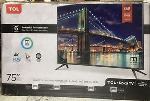 "TCL 75"" HDTV HDR LED 4K Smart RoKu Tv 6 Series Model 75R615 for Sale in Duluth, GA"