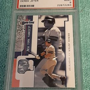 2001 Freer Game Time Derek Jeter Shortstop Yankees HOF Card #1 PSA 9 for Sale in Poinciana, FL