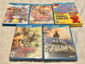 Nintendo Wii U Game Lot 3 New Sealed for Sale in Saginaw, TX